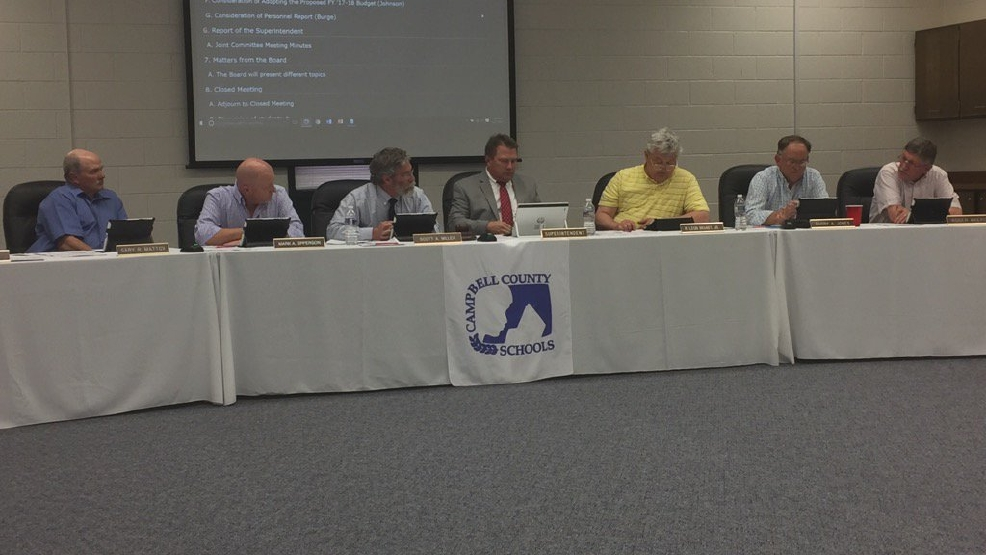 Campbell County school board approves budget that includes 5