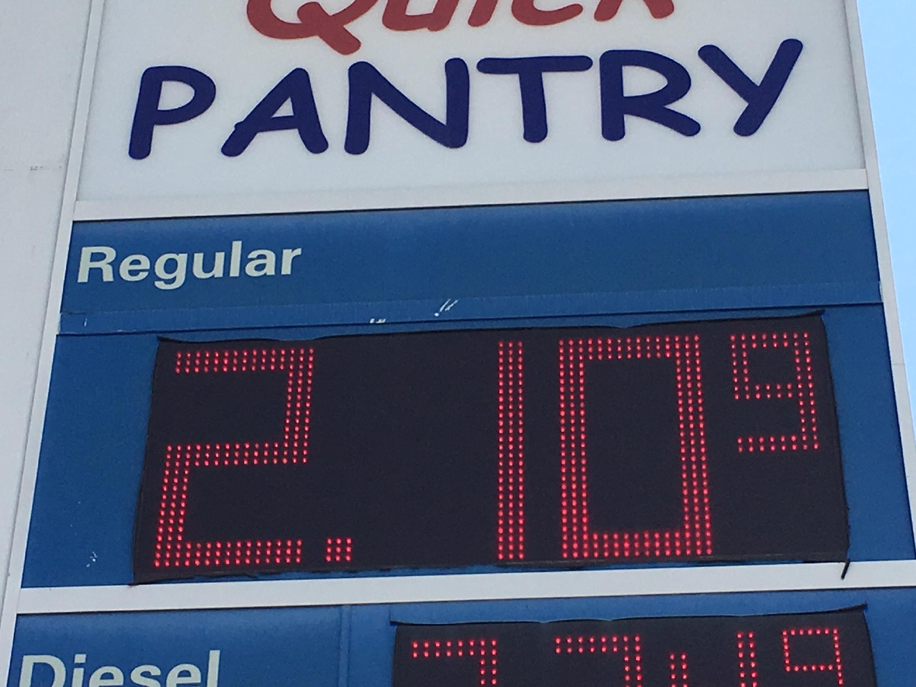 News 13 has learned some gas stations in the Asheville area don't have any gas. (Photo credit: WLOS staff)