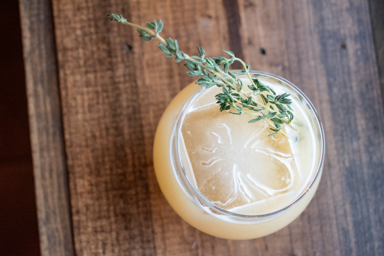 Thyme Is On My Side: honey and thyme infused whiskey sour with Aquafaba and fresh lemon / Image: Matt Groves // Published: 2.23.20