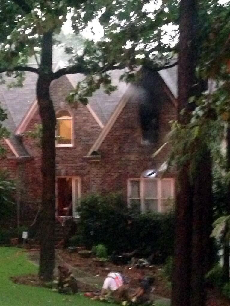 House fire in Hoover started by lightning.