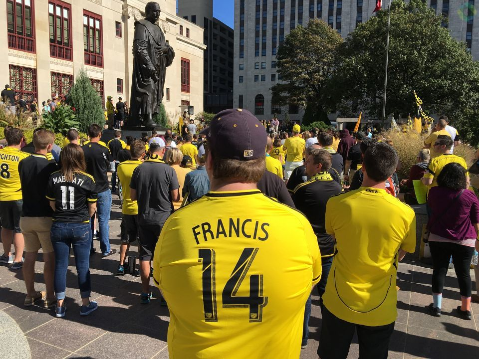 Crew SC fans made their voices loud and clear Sunday as they urged the franchise's owner to keep the team in Columbus afternoon during a demonstration at Columbus City Hall Sunday afternoon. (WSYX/WTTE)