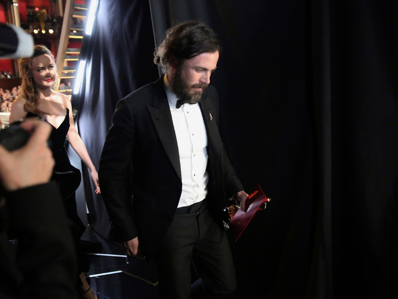 "Casey Affleck, winner of the award for best actor in a leading role for ""Manchester by the Sea"", appears backstage at the Oscars on Sunday, Feb. 26, 2017, at the Dolby Theatre in Los Angeles. (Photo by Matt Sayles/Invision/AP)"