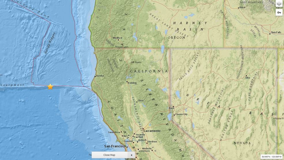 2 large earthquakes shake North Coast of California KRCR
