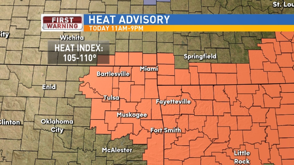 Heat Advisory Thursday
