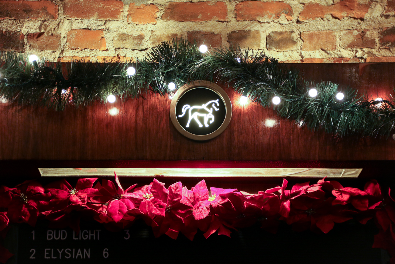 Festive decorations on Cobblestone OTR's restored bar / Image: Ronny Salerno // Published: 1.2.19