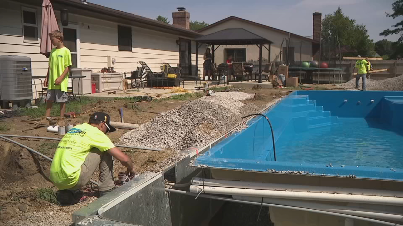 Family gets new pool after they say a contractor botched for Local pool contractors