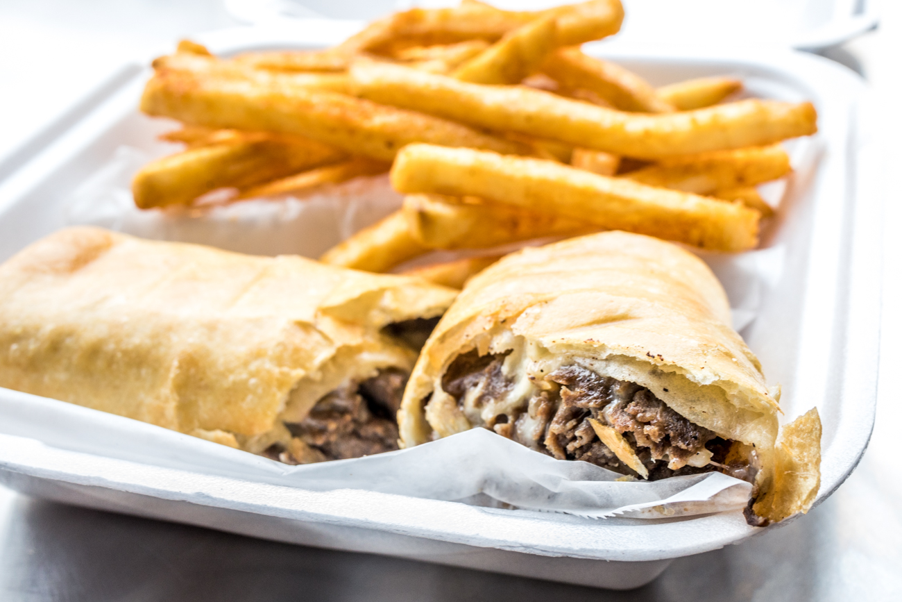 Crispy Philly with steak, onions, mushrooms, green pepper, mayo and cheese served with fries / Image: Catherine Viox{ }// Published: 1.26.20