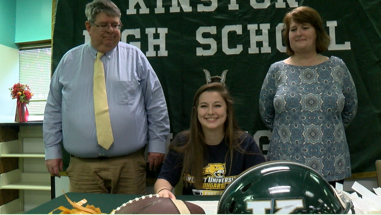 Baily Blake hopes to continue to impress at the college level just like she did at Kinston High School. (Brian North, NewsChannel 12 photo)