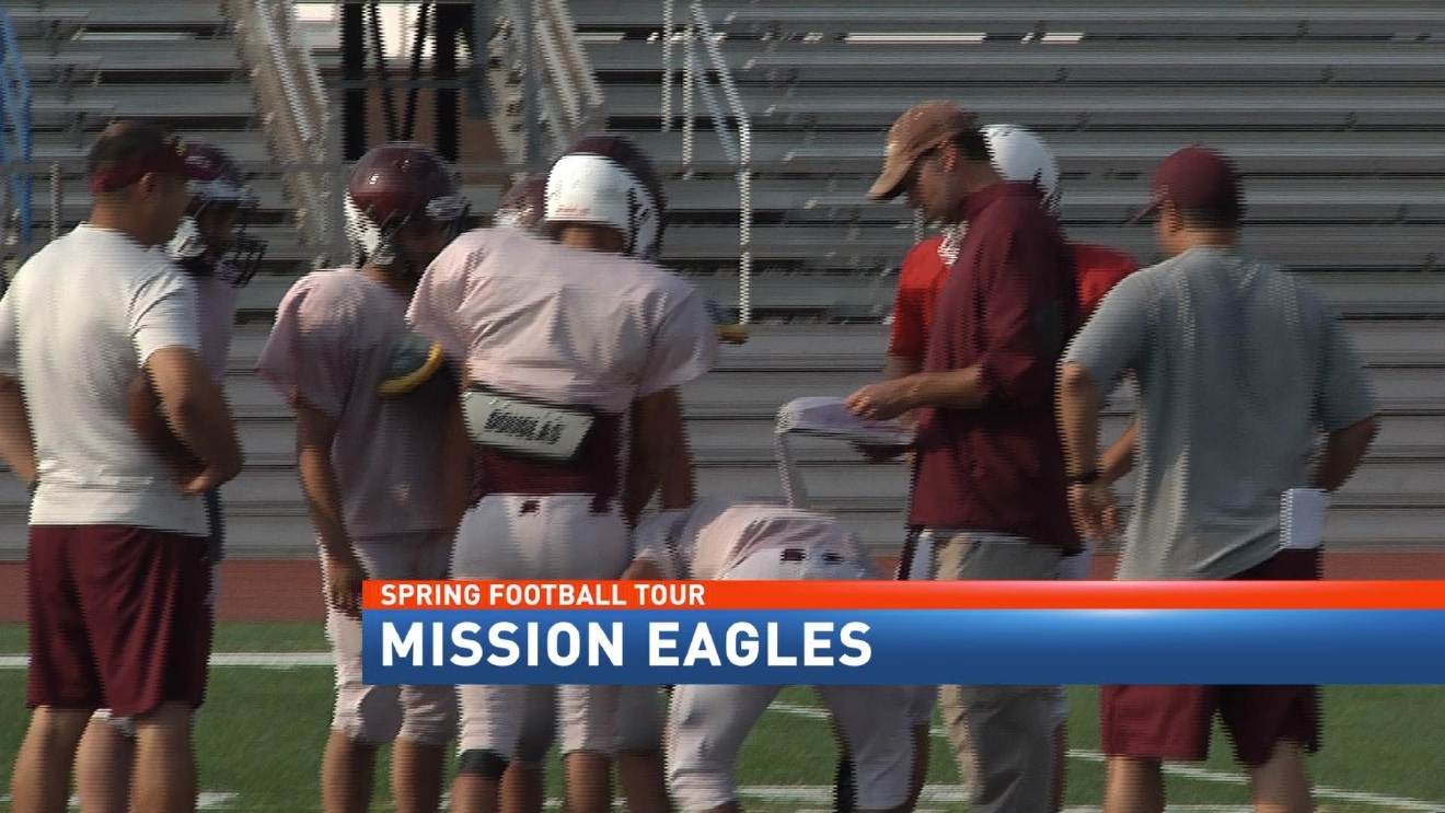 Waking The Echoes In Mission-CBS 4 Spring Football Tour2.jpg
