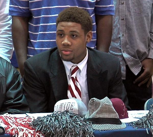 Fultondale athlete ArDarius Stewart signs his letter of intent to play football at the University of Alabama on National Signing Day, Wednesday, February 6, 2013.