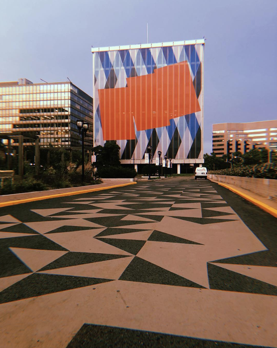 Crystal City doesn't look like D.C. - many of the surfaces are heavily decorated with modern designs. (Image via @design_found)