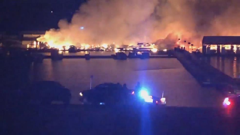 Large fire damages Lake Cumberland marina | WKRC