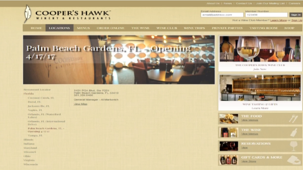 Cooper 39 S Hawk Winery To Open In Palm Beach Gardens Wpec