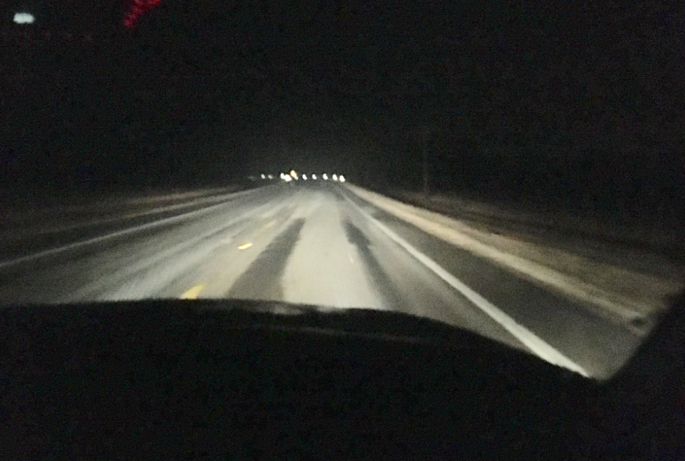 Snow-covered road in Ross County on Wednesday morning February 7, 2018. (WSYX/WTTE)<p></p>