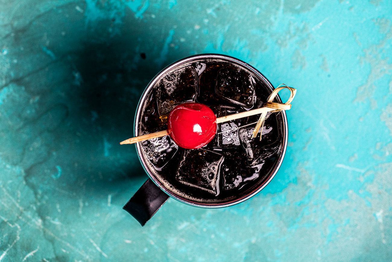 The All American: Old Bardstown, Southern Comfort, coke, and cherry / Image: Catherine Viox // Published: 2.13.20