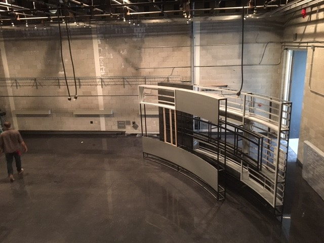 Each part of the set was assembled in the studio. It took 25 days to assemble, re-wire, mount monitors and light the new set (WSYX/WTTE)