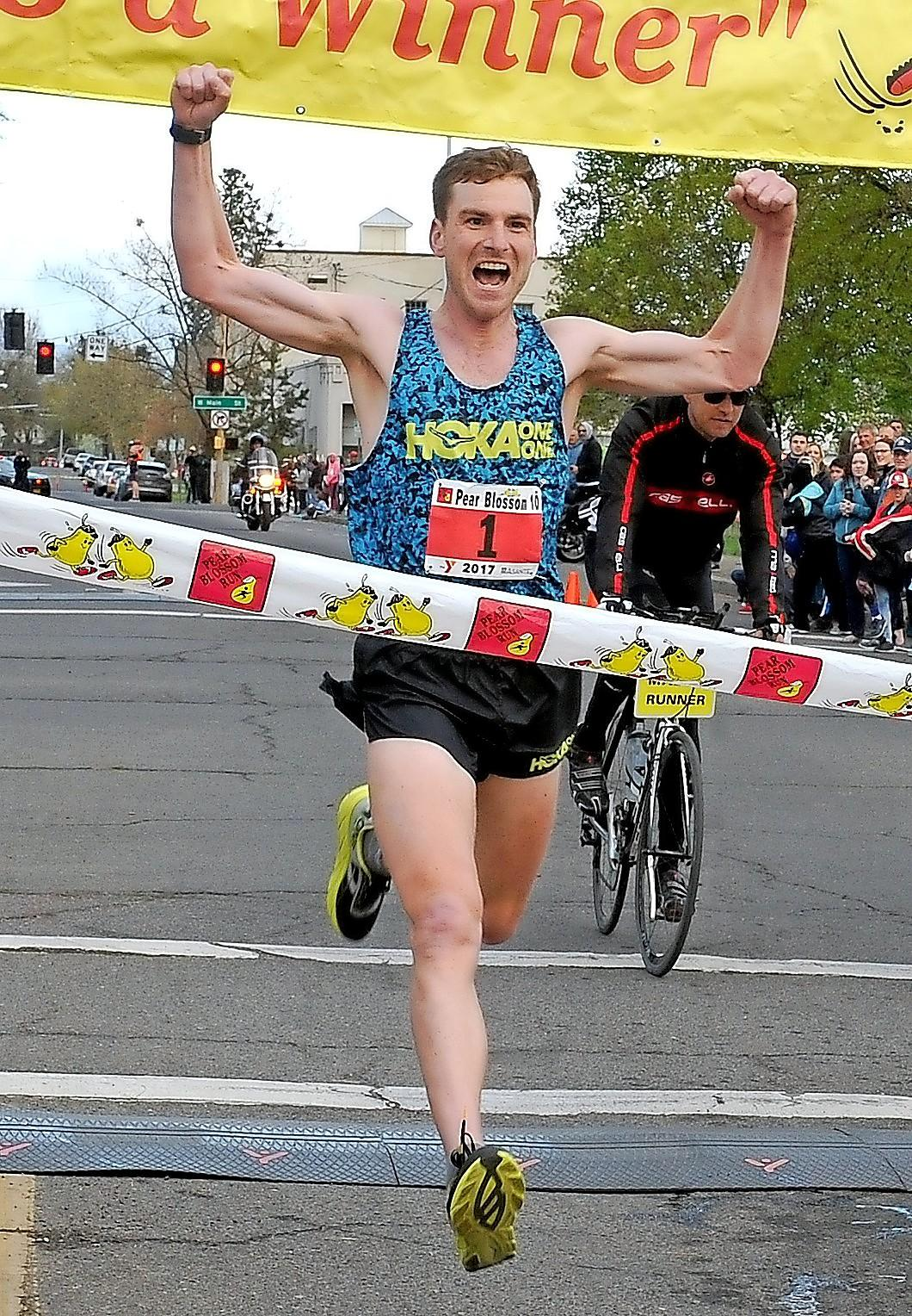 Denise Baratta / MT File Photo Cole Watson is the First place men's finisher of the Pear Blossom Run in 2017.