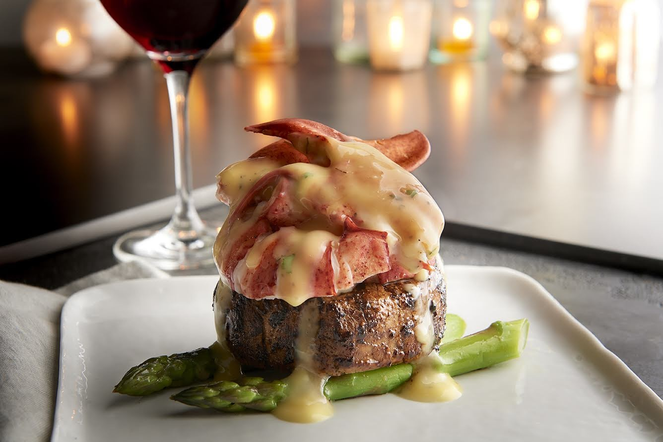 "Enjoy a ""steak and lobster oscar"" topped with béarnaise sauce at Morton's on Chirtsmas from 2-9 p.m. (Image: Courtesy Morton's)"