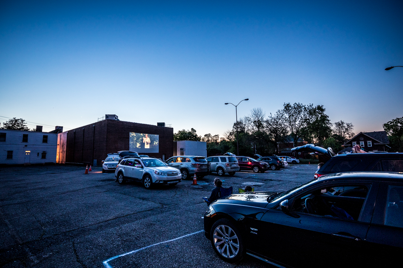 The idea for the drive-in was announced a little over a week before the premiere weekend as a fun surprise for locals. College Hill CURC's mission is to revitalize the business district along Hamilton Avenue. The movie-filled weekend was meant as a way to drive local business. Local restaurants participated to provide meals that ticket holders could purchase ahead of time. / Image: Catherine Viox // Published: 5.23.20