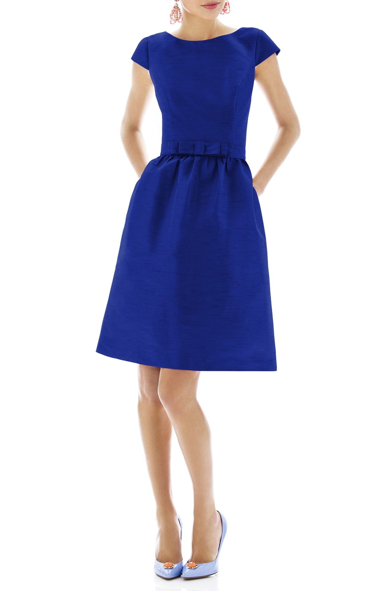 Alfred Sung. Woven Fit & Flare Dress - $198.00–$238.00. (Image: Nordstrom)