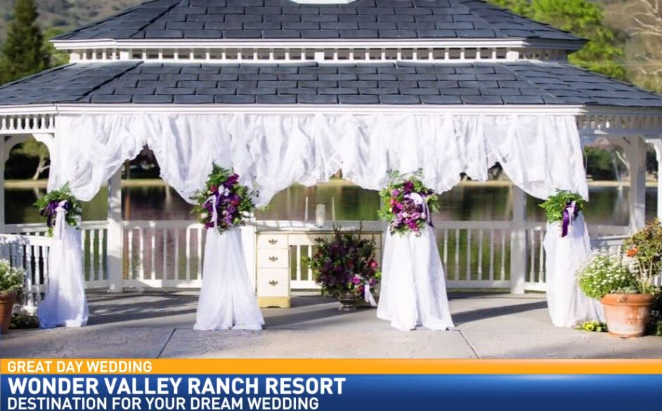 Lakeside wedding at Wonder Valley Ranch Resort