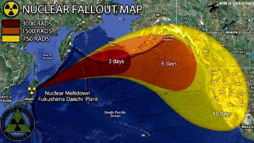 Fallout of nuclear radiation from Fukushima - measured in