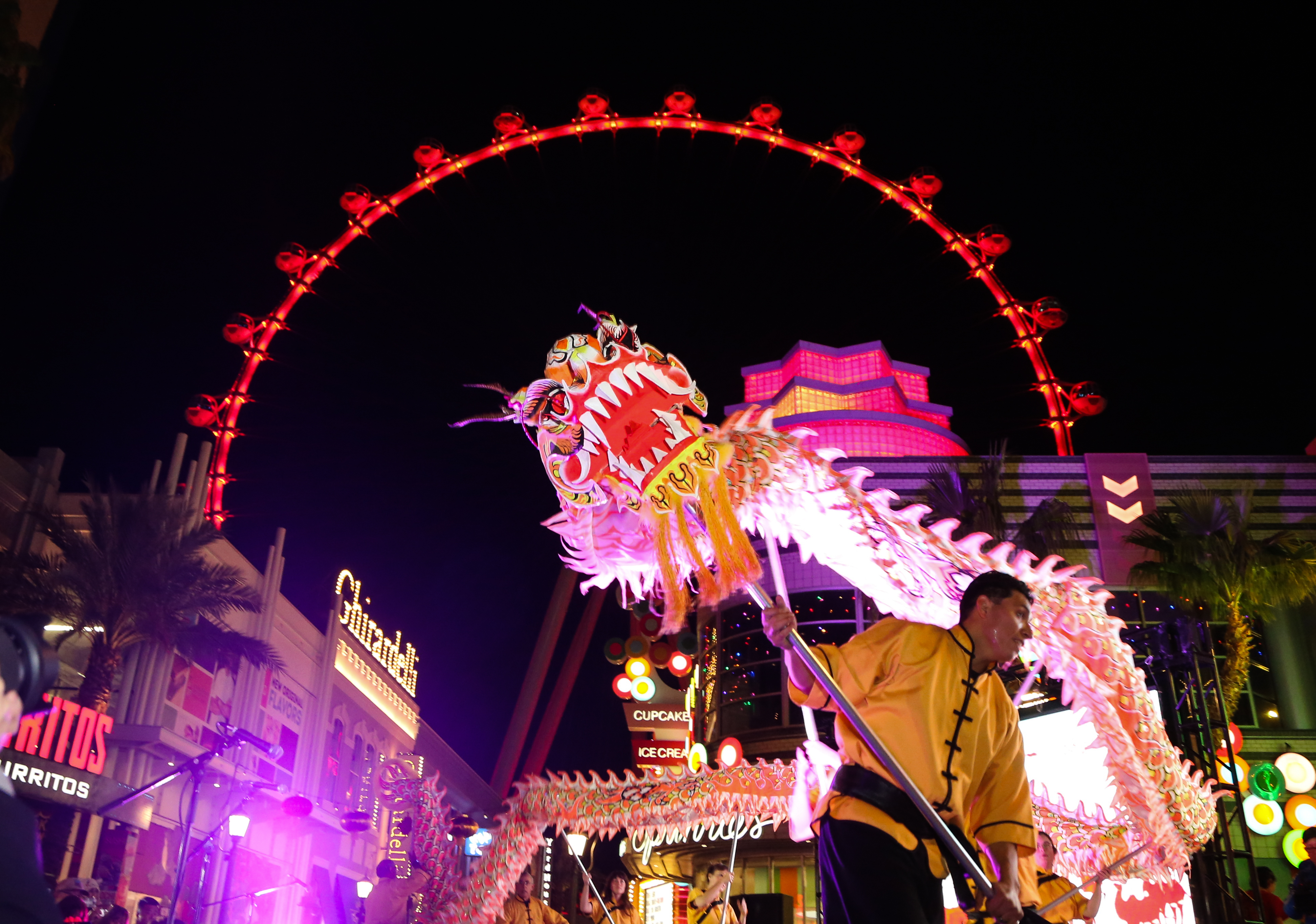 Chinese New Year 2018: The LINQ Promenade Dragon Dance{&amp;nbsp;}(Photo Credit: Gabe Ginsberg)<p></p>