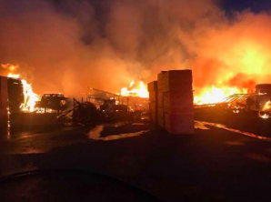 Fire at Whitsell Manufacturing in Cottage Grove is expected to burn for days.