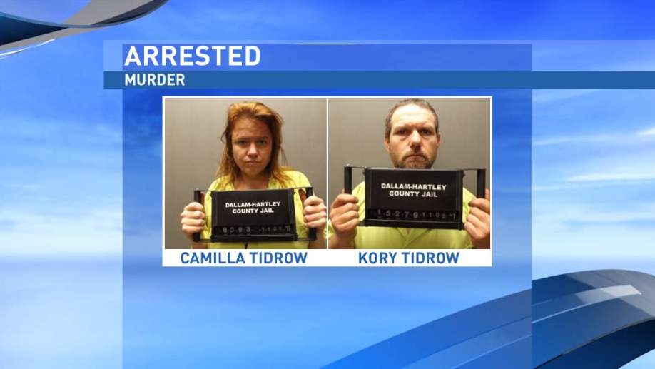 Dalhart police say Camilla Tidrow and Kory Tidrow have been arrested for murder in connection to missing Dalhart man, Joel Frazier. (Dallam County Sheriff's Office)<p></p>