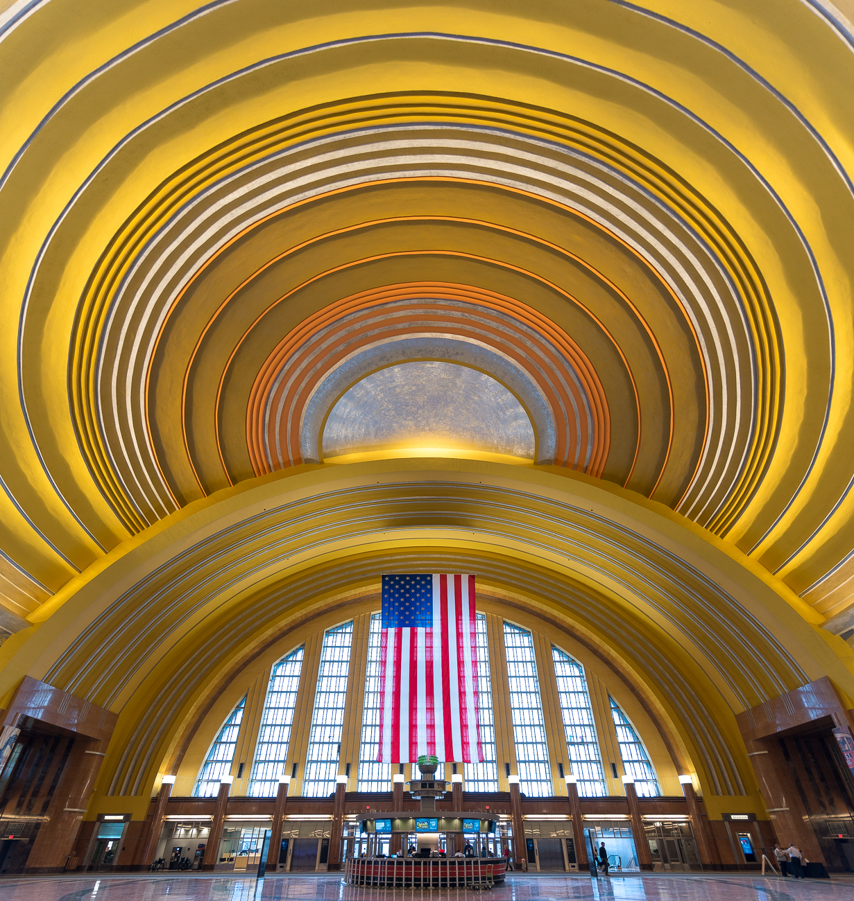 "The Cincinnati Museum Center at Union Terminal finished its years-long renovation and reopened to the public in November. Pictured is the rotunda of the building. First published on November 18 in ""We Love Our Newly Reopened Union Terminal"" / Image: Phil Armstrong"