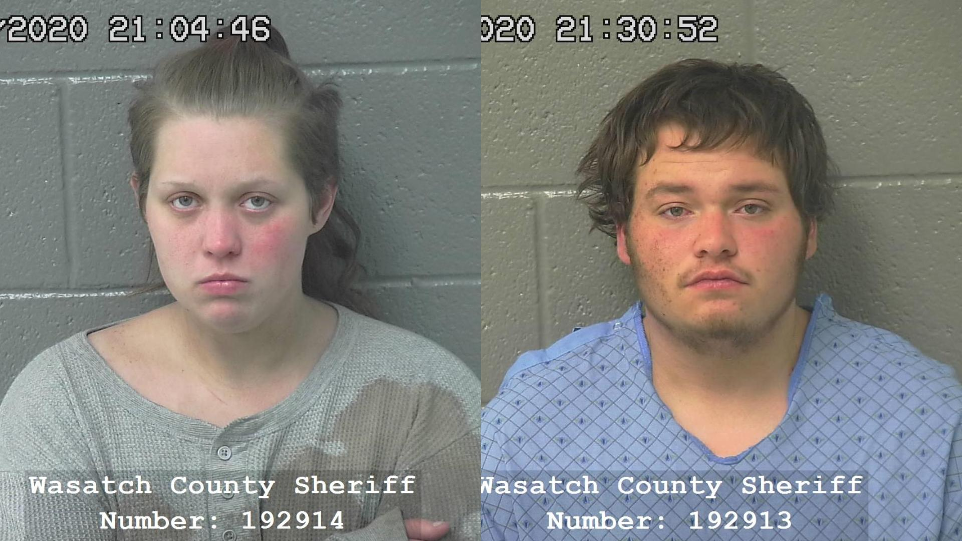 Brandon Rautanen (L) and Maryah King (R) were arrested in connection with the police chase. (Photo: Wasatch County Jail)