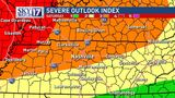 Severe storms possible for middle Tennessee on Memorial Day Weekend