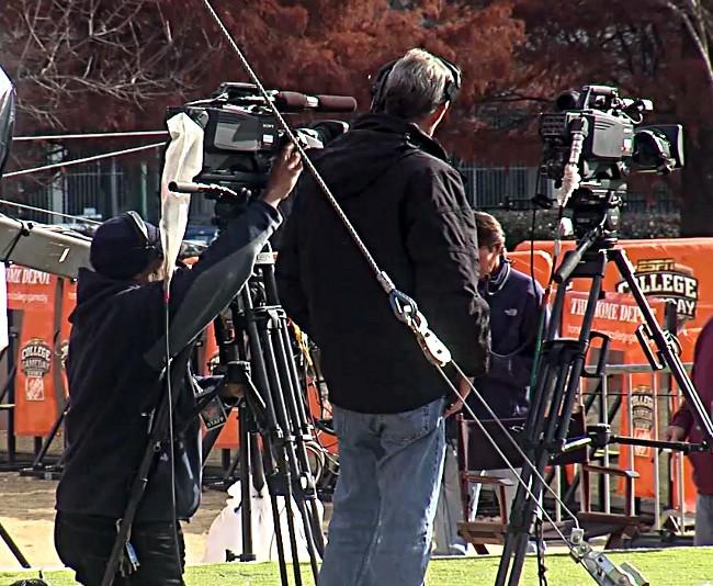 ESPN Gameday setting up for Saturday's show in Atlanta for the SEC Championship. (abc3340.com)