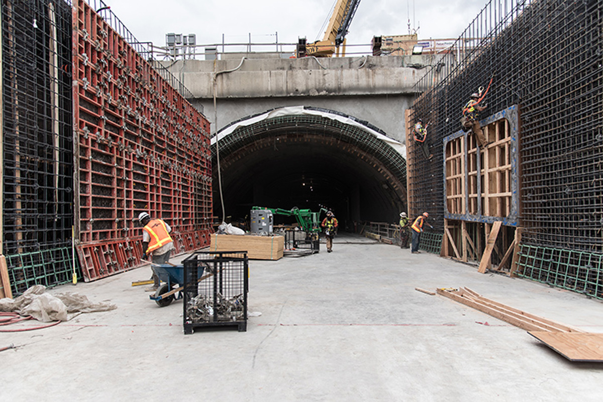 WSDOT photo shows one entrance to the future tunnel.