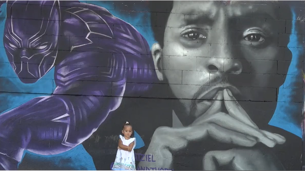 Dallas artist paints 'Wakanda Forever Mural' to honor actor Chadwick Boseman