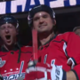 Ryan Zimmerman and Max Scherzer wore full Caps gear while leading 'Let's Go Caps' chant