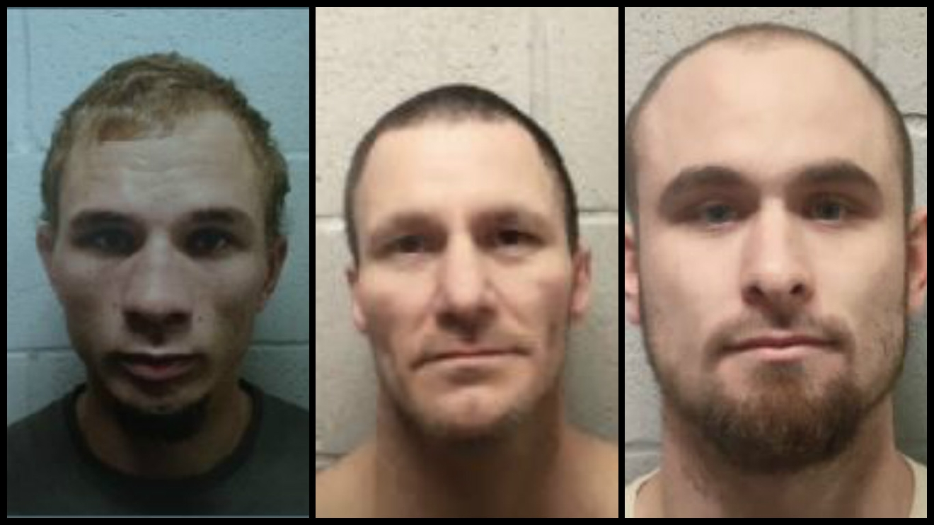 Brian Moody, Sonny Baker and Mark Robbins escaped March 16 from the Lincoln County Jail. (Lincoln County Sheriff's Office)