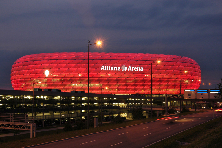 PLACE: Allianz Arena / The sister city program is an official partnership between two cities in different countries to promote each other by sharing research, exchanging cultural programs, and more. Munich, Germany is a sister city of Cincinnati. It is the capital of Bavaria and the third largest city in Germany with a population of 1.5 million. It was roughly founded in the year 1158 CE. / Image: Markus Dlouhy, courtesy of München Tourismus (Nr. 1069) // Published: 6.24.17