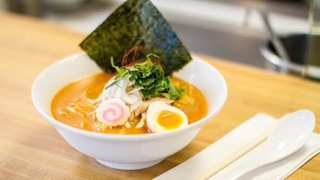 If you think about it, this is basically Japanese chicken noodle soup — only so much better. Chef Katsuya Fukushima imports custom-made noodles from Japan for his murky and rich paitan broth also studded with shredded chicken, dandelion greens, white onion, corn, naruto, chili threads and nori. While you're there, you might as well order a fried chicken platter for a comfort-food overdose. (Image: Farrah Skeiky)