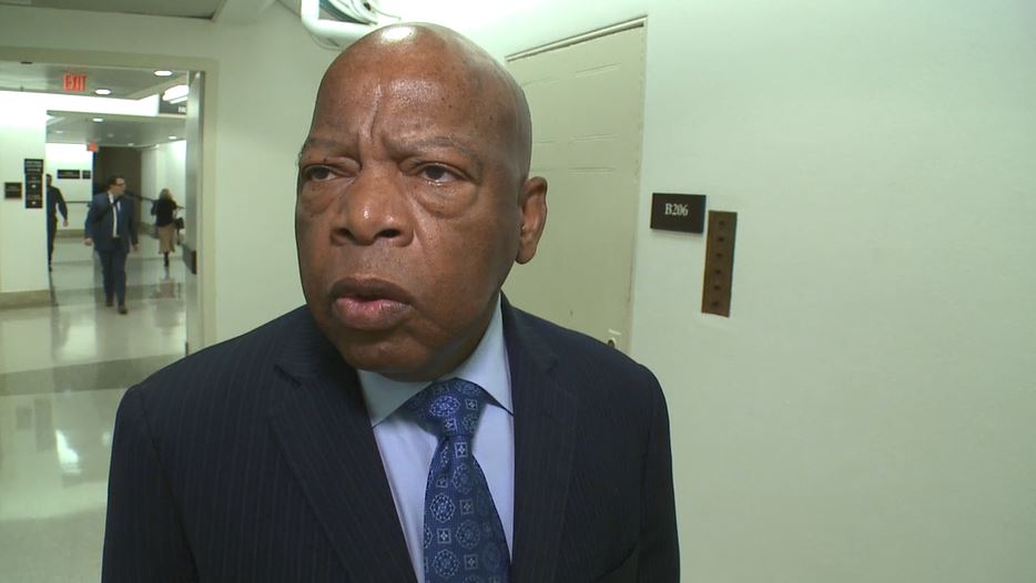 Rep. John Lewis, D-Ga., speaks to Sinclair Broadcast Group in the U.S. Capitol in Washington, Monday, Nov. 6, 2017. (Sinclair Broadcast Group)