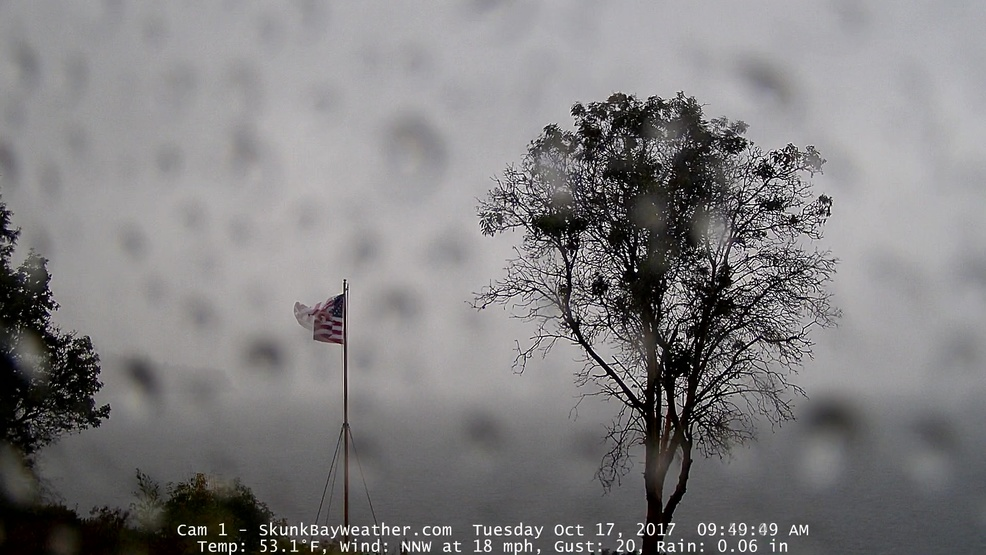 Watch: Cold front passage captured on web camera