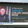 Sergeant Collin Rose honored at national candlelight vigil