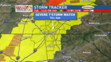 Severe T'Storm Watch for portions of viewing area tonight