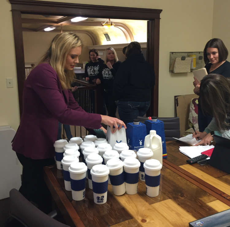 Mugshot Mondays: This week's winner is Chatterbox Pediatric Therapy Center in Nampa! Lauren Clark helped deliver free Dutch Bros. Coffee and KBOI mugs! Want your business to be next? Enter HERE: http://bit.ly/1UoKo3X