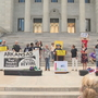 Arkansas chapter of Poor People's Campaign rally on the Capitol steps against gun violence