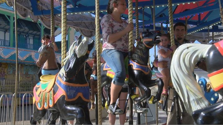 The carousel is a favorite fair ride. (KVII, Niccole Caan)