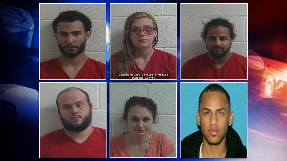 A massive drug bust in Oxford County lands 10 people behind bars. (Oxford County Jail)