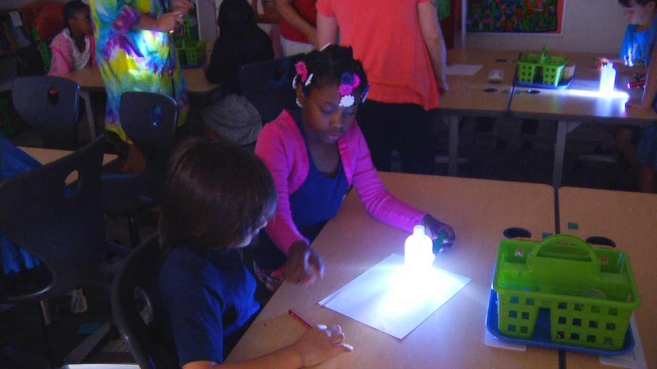 A three-week summer camp is in full swing for students in the Asheville City Schools system. Even though the focus is on reading, there are plenty of hands-on activities, as well. (Photo credit: WLOS staff)
