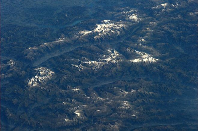 The indescribable beauty of the Alpine landscapes (Photo & Caption: Luca Parmitano, NASA)