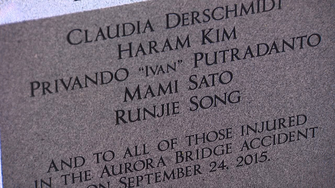 A plaque at North Seattle College honors the students who died that day. KOMO News photo